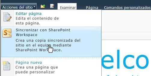 Seleccione esta opción para sincronizar un sitio de SharePoint con su equipo