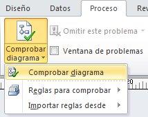 Botón Comprobar diagrama