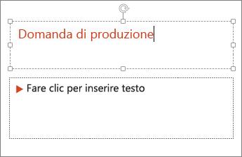 Muestra cómo agregar texto en un campo de texto en PowerPoint.