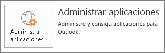 Administrar aplicaciones de Outlook