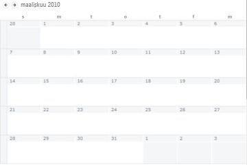 Kalenterinäkymä