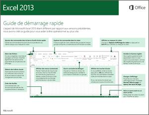 Guide de démarrage rapide d'Excel2013
