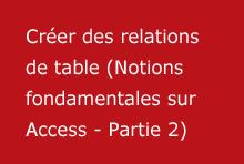 Créer des relations de table (Notions fondamentales sur Access - Partie2)