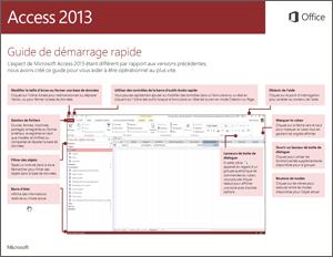 Guide de démarrage rapide d'Access2013