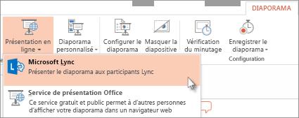 Présenter en ligne avec Lync