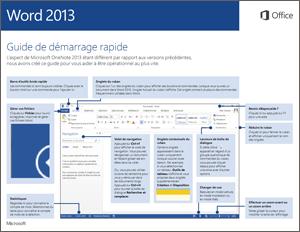 Guide de démarrage rapide de Word2013