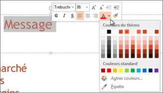 Modifier la couleur du texte
