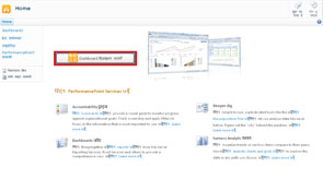Button to run Dashboard Designer in the PerformancePoint site template
