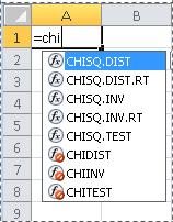 Excel 2010 में फ़ंक्शंस
