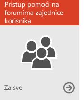 Pristup pomoći na forumima zajednice korisnika (za sve)