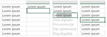 Značajka pregleda predloženih unosa na djelu