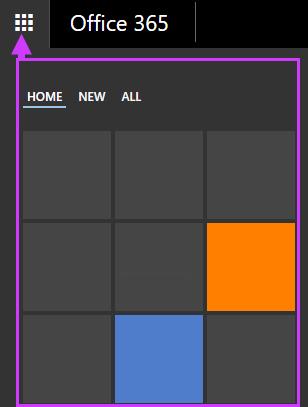 Az Office 365 navigációs beállításai