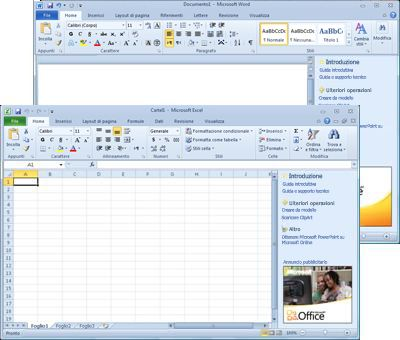 Word Starter ed Excel Starter