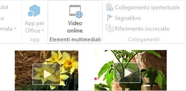 Video online nel documento di Word