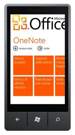 Hub OneNote Mobile 2010
