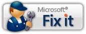 Microsoft Fix it 단추
