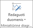 Grupės Miniatiūrinė diagrama mygtukas Redaguoti duomenis