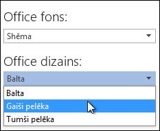 Cita Office dizaina izvēle