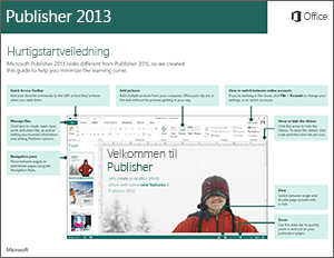 Hurtigstartveiledning for Publisher 2013