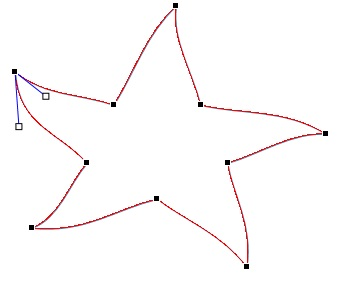 Redigeringspunkter på en figur