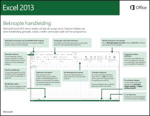 Handleiding Snel aan de slag voor Excel 2013
