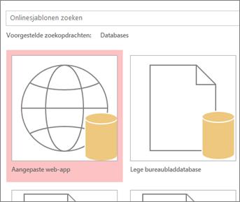 Knop Aangepaste web-app in het beginscherm.
