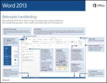 Handleiding Snel aan de slag voor Word 2013