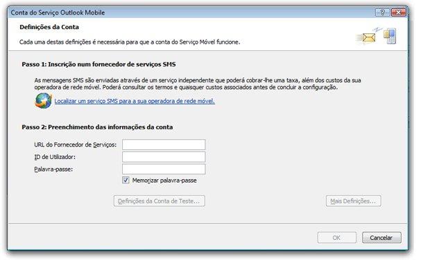 Localizar um fornecedor de SMS