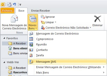 Utilizar o Exchange Server e o Windows Mobile para enviar SMS