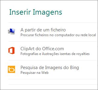 Inserir Imagens