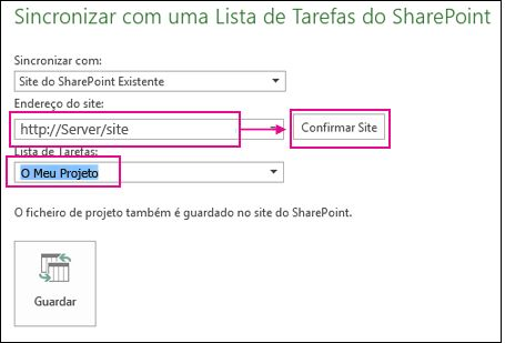 Guardar o projeto no SharePoint