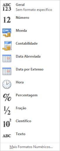 Galeria de formato de número