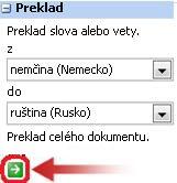 Textové pole Preklad