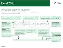 Príručka so stručným návodom pre Excel 2013