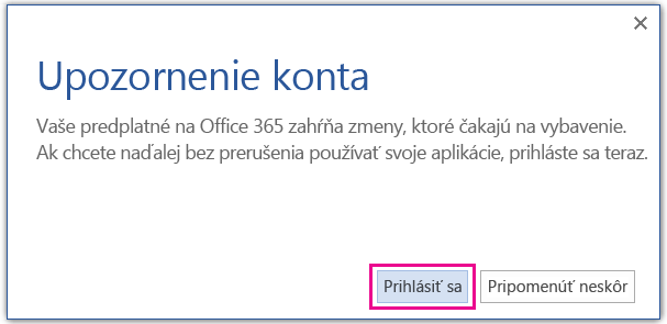 Click Sign In in the Account Notice dialog box to install a different version of Office.