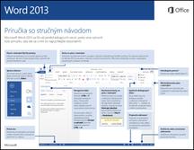 Príručka so stručným návodom pre Word 2013