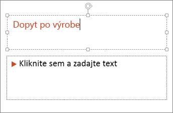 Pridanie textu