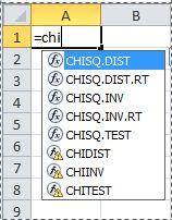 Funkcije v programu Excel 2010