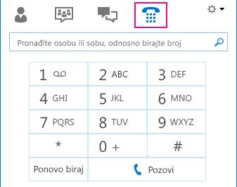 """Snimak ikone """"Telefon"""" na kome je prikazana tastatura telefona koja se može koristiti za upućivanje poziva"""