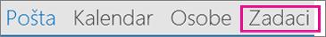 Klik na dugme zadataka