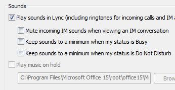 Ändra aviseringsinställningar för Lync