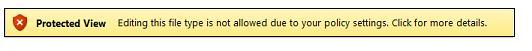 Skyddad vy från filblockering, användaren kan inte redigera filen