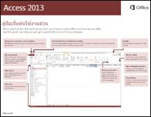 คู่มือเริ่มต้นใช้งานด่วนสำหรับ Access 2013