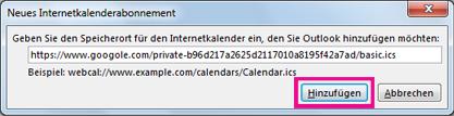 Internetkalenderabonnement