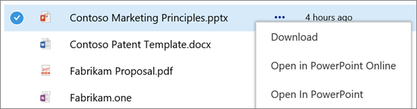 Screenshot of co-authoring or sharing a OneDrive for Business file from the web browser