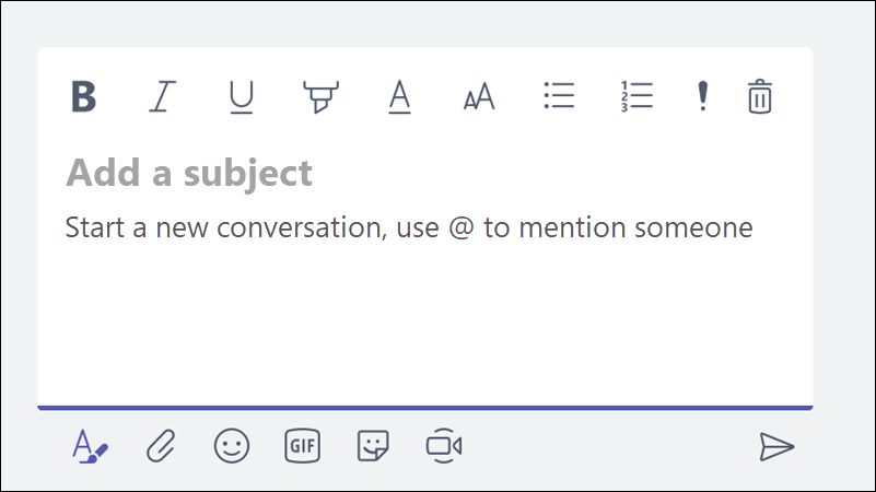 Add a subject to your messages to clearly identify the topic