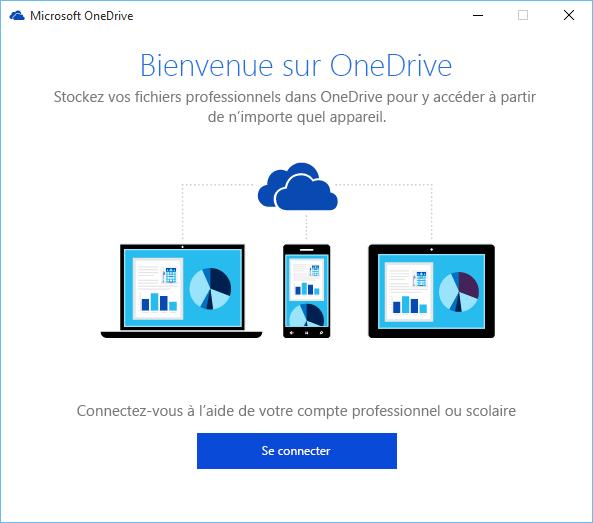 Écran d'accueil de l'Assistant Bienvenue dans OneDrive