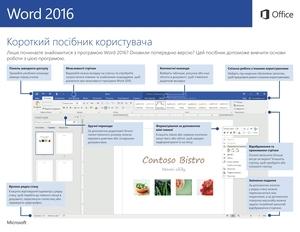 Короткий посібник користувача програми Word2016 (Windows)