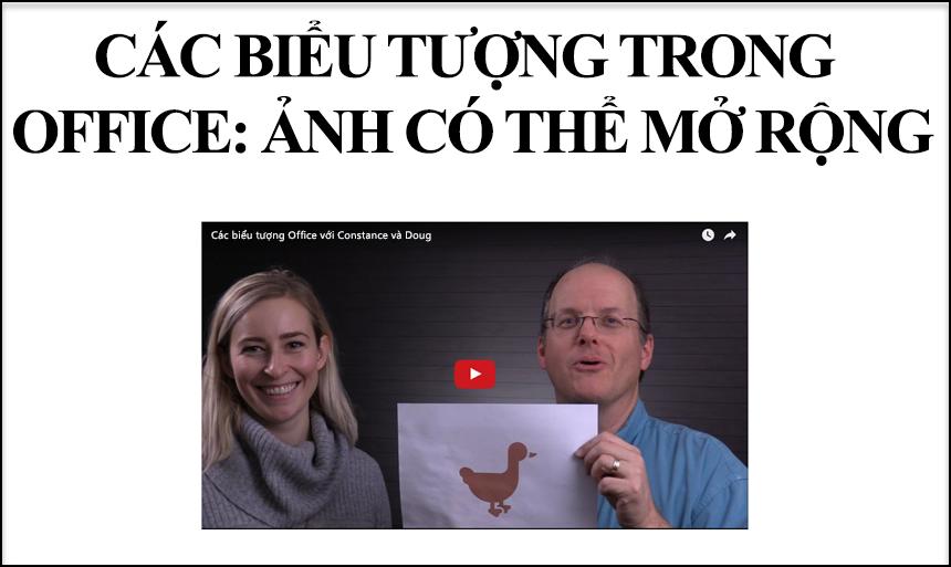 Một video trực tuyến đã được thêm vào trang chiếu PowerPoint